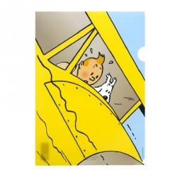 Pochette plastique A4 Les Aventures de Tintin L'hydravion jaune (15169)