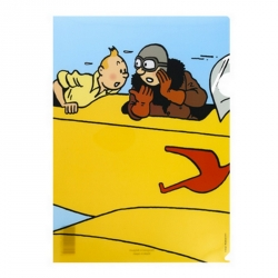 A4 Plastic Folder The Adventures of Tintin The Yellow Biplane (15172)