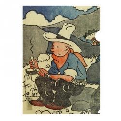 Pochette plastique A4 Tintin Le Petit Vingtième Tintin en Amérique (15173)