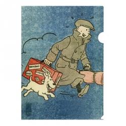 A4 Plastic Folder Tintin Le Petit Vingtième The Broken Ear (15176)