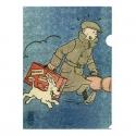 Pochette plastique A4 Tintin Le Petit Vingtième L'oreille cassé (15176)