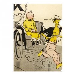 Pochette plastique A4 Tintin Le Petit Vingtième Le Lotus Bleu (15175)