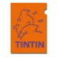 A4 Plastic Folder The Adventures of Tintin Snowy Orange Perfil (15161)