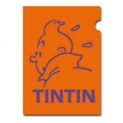 A4 Plastic Folder The Adventures of Tintin Orange Perfil (15161)