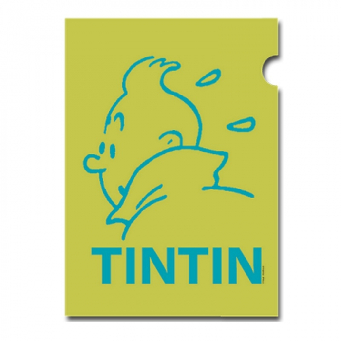 A4 Plastic Folder The Adventures of Tintin Snowy Green Perfil (15162)