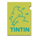 A4 Plastic Folder The Adventures of Tintin Green Perfil (15162)