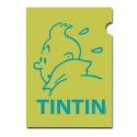 A4 Plastic Folder The Adventures of Tintin Green Perfil (15162)