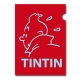 A4 Plastic Folder The Adventures of Tintin Snowy Red Perfil (15163)