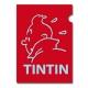 Pochette plastique A4 Les Aventures de Tintin Perfil Rouge (15163)