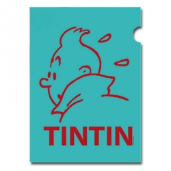 Pochette plastique A4 Les Aventures de Tintin Perfil Turquoise (15160)