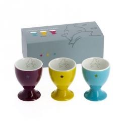 Set de tres hueveras en cerámica Tintín 47967 (2014)