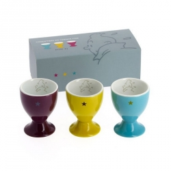 Set of three porcelain egg cups Tintin 47967 (2014)
