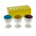 Set of three porcelain egg cups Tintin 47968 (2015)