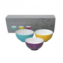 Set of three porcelain bowls Tintin 47963 (2014)