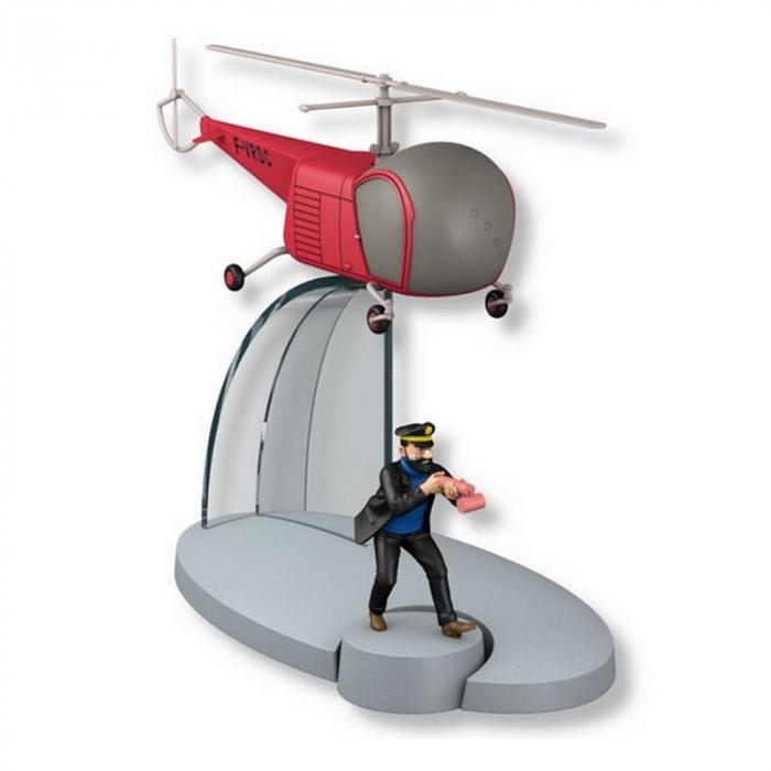 Figurine de collection Tintin L'hélicoptère rouge bordure F-VRDC 29556 (2015)