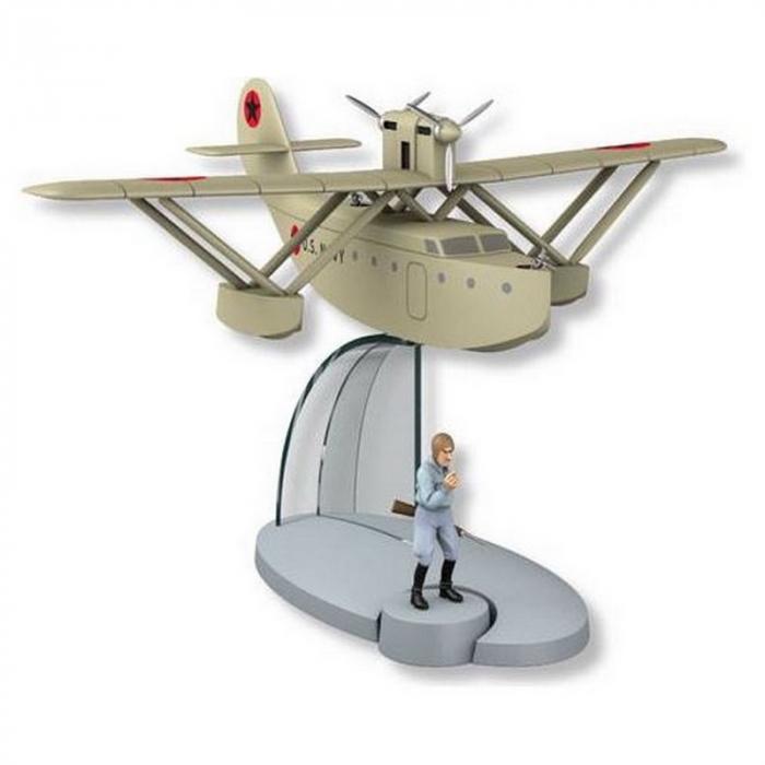 Figurine de collection Tintin L'hydravion Latécoère Jo, Zette et Jocko (29558)