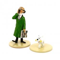 "Figurine Pixi / Moulinsart: Tournesol avec Milou ""Lisez Tintin"" 46304 (2016)"