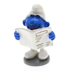 Collectible Figure Pixi The Smurf reading the newspaper 6415 (2016)