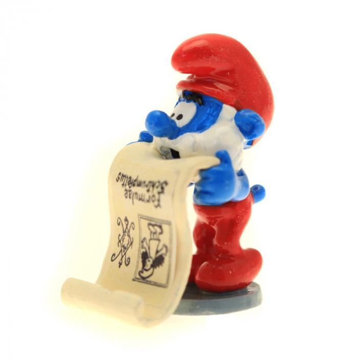 Figurine de collection Pixi Le Grand schtroumpf et l'affiche formule 6418 (2016)