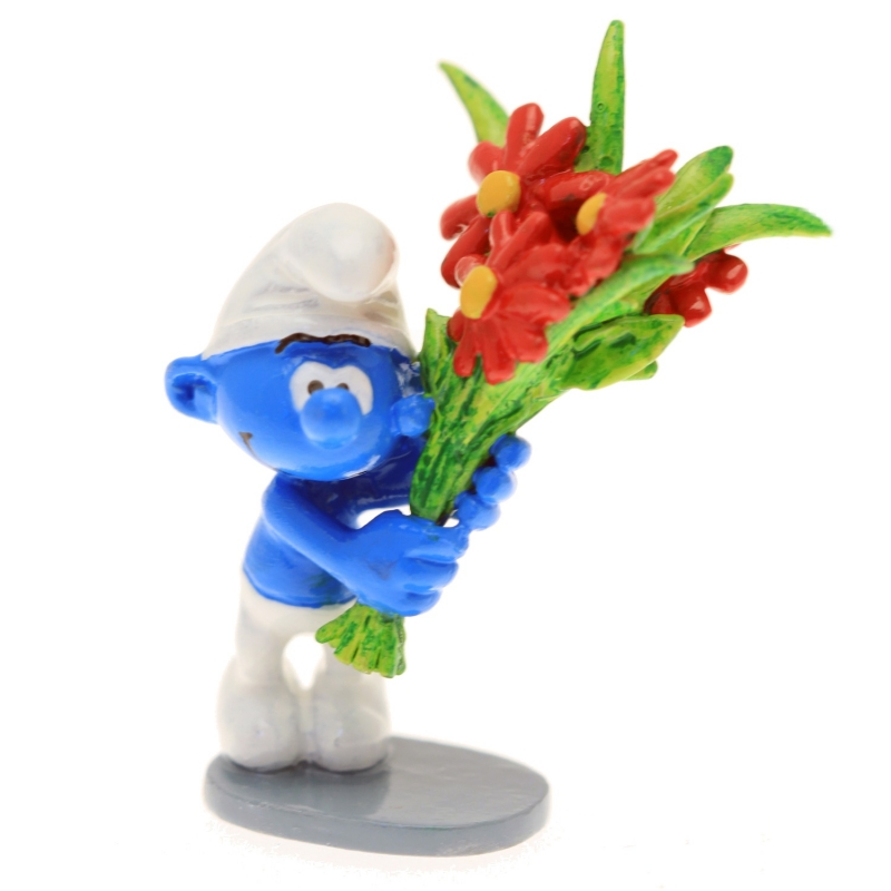 Collectible Figure Pixi The Smurf with a bunch of flowers 6419 (2016)