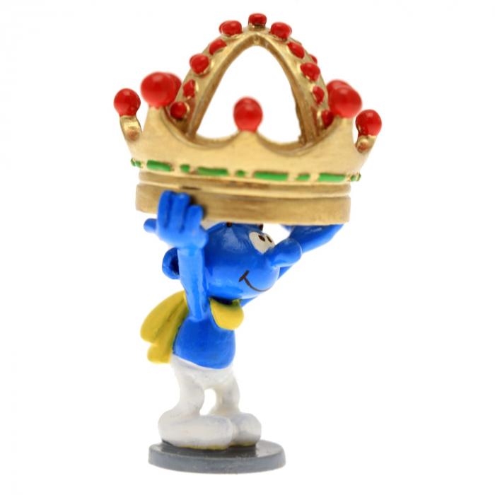 Figurine de collection Pixi Le schtroumpf tenant une couronne 6422 (2016)