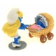 Collectible Figure Pixi The Smurfette with her pram 6420 (2016)