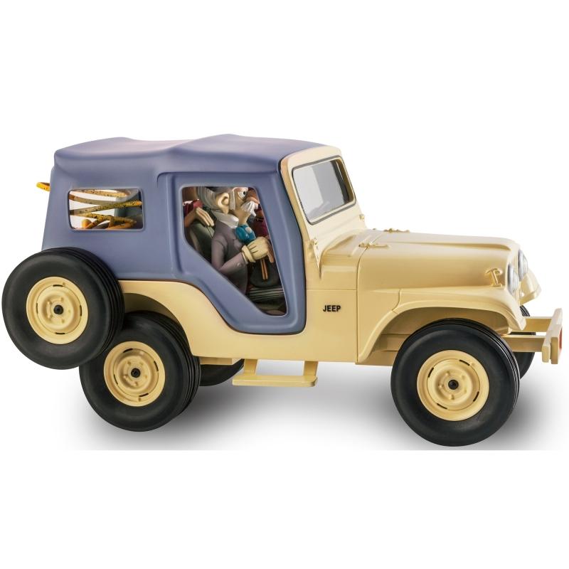 la voiture jeep cj5 de 1960 spirou et fantasio figures et vous gf09 2016 bd addik. Black Bedroom Furniture Sets. Home Design Ideas