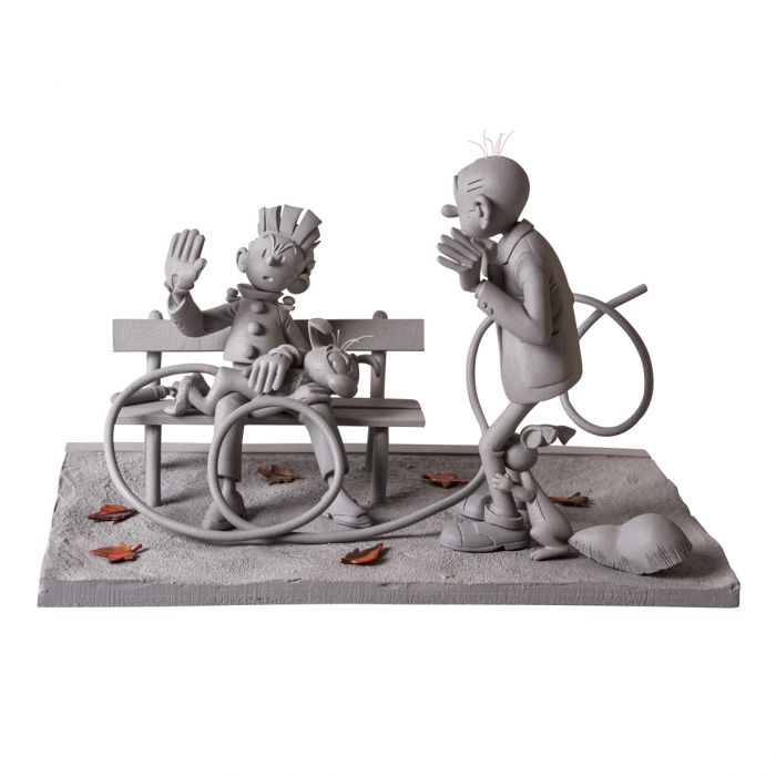The spanking monochrome Spirou & Fantasio Figures & Vous - CAF01 (2015)