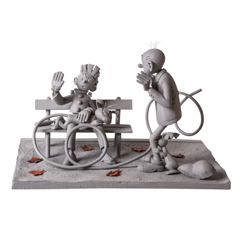 The spanking collectible scene Spirou and Fantasio Figures et Vous CAF01M (2015)