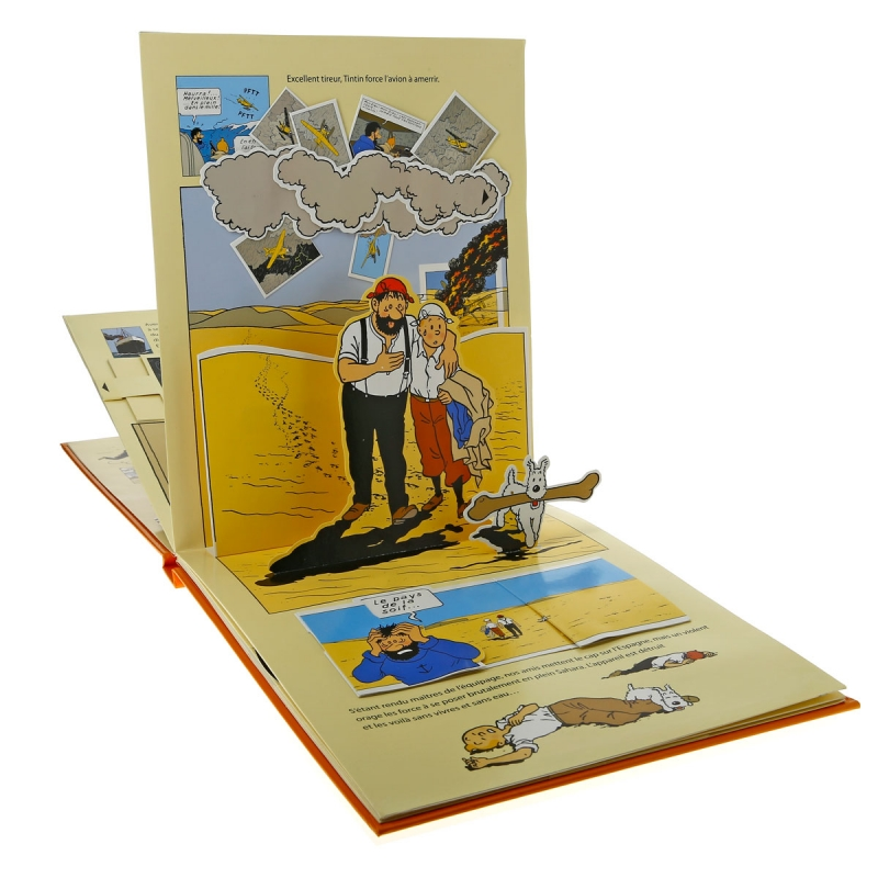 livre anim pop up moulinsart tintin et le crabe aux pinces d 39 or 24207 bd addik. Black Bedroom Furniture Sets. Home Design Ideas