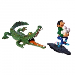 Collectible Figure Pixi Gaston Lagaffe chased by the crocodile 4742 (2002)
