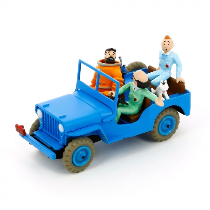 Figura de colección Tintín La Jeep Azul Objetivo la Luna Nº9 29509 (2013)