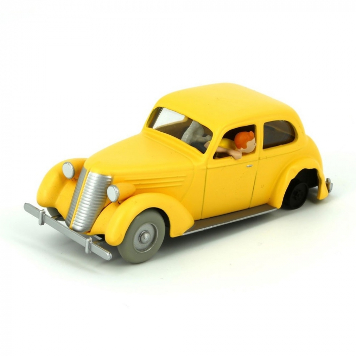 Figurine de collection Tintin La voiture jaune accidentée Nº10 29510 (2013)
