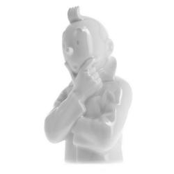 """Busto de porcelana """"Tintín pensativo"""" Moulinsart Brillante 24cm - 44211 (2013)"""