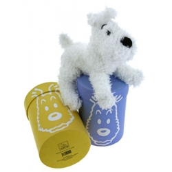 Peluche doudou souple Tintin et boîte cadeau: Milou 20cm 35137 (2016)