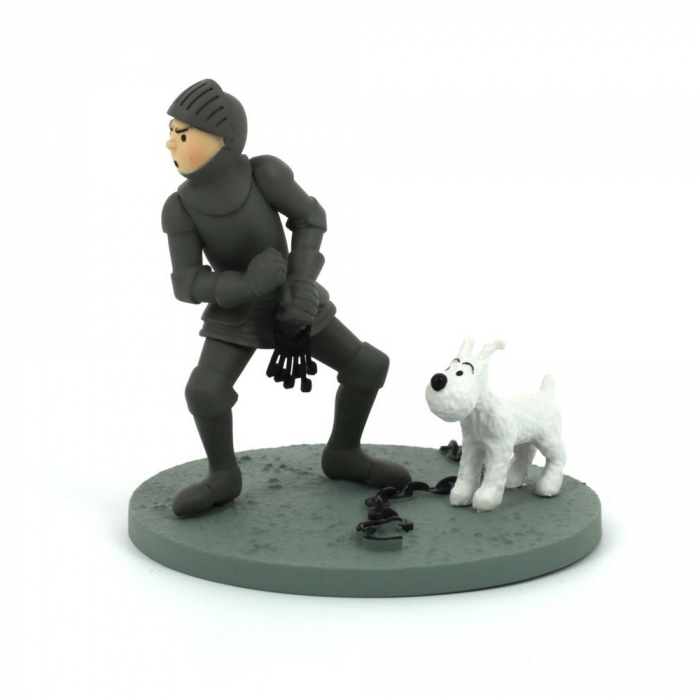 Collection Box scene / Figurine Tintin in armour Moulinsart 43105 (2010)