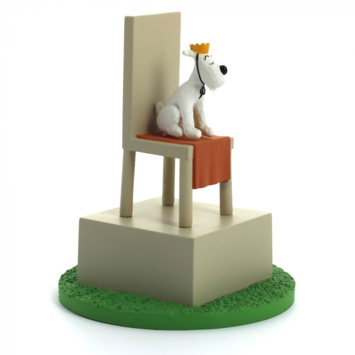 Collectible box scene figure Tintin King Snowy on his throne 43104 (2011)
