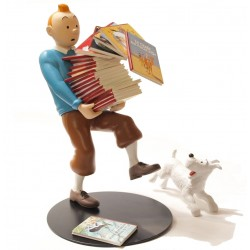 Collectible figure Moulinsart Tintin carrying Albums 1st edition - 46964 (2011)