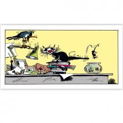 Cuadro en lienzo Tomás el Gafe Trampolín Editions du Grand Vingtième (60x30cm)