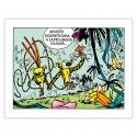 Cuadro en lienzo El Marsupilami paseando Editions du Grand Vingtième (60x45cm)