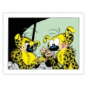 Framed Canvas The Marsupilami untangling Editions du Grand Vingtième (60x45cm)