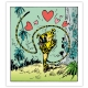 Framed Canvas The Marsupilami in love Editions du Grand Vingtième (40x45cm)