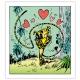 Toile imprimée La Marsupilami amoureuse Editions du Grand Vingtième (40x45cm)