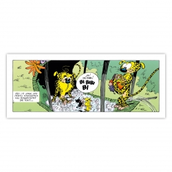 Framed Canvas The Marsupilami The meal Editions du Grand Vingtième (55x20cm)