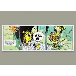 Cuadro en lienzo El Marsupilami la cena Editions du Grand Vingtième (55x20cm)