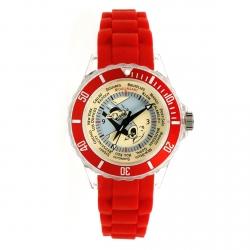 Reloj de pulsera con correa en silicona Tintín de viaje 82414 (2012)