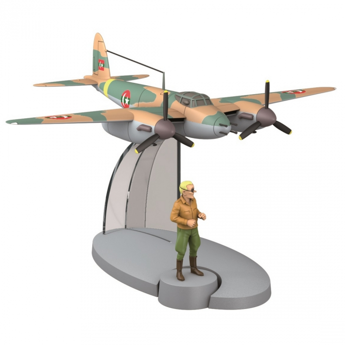 Figurine de collection Tintin L'avion de guerre Khemed Coke en stock 29530 2014
