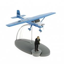 Figurine de collection Tintin L'avion bleu Müller L'île noire Nº23 29543 (2016)