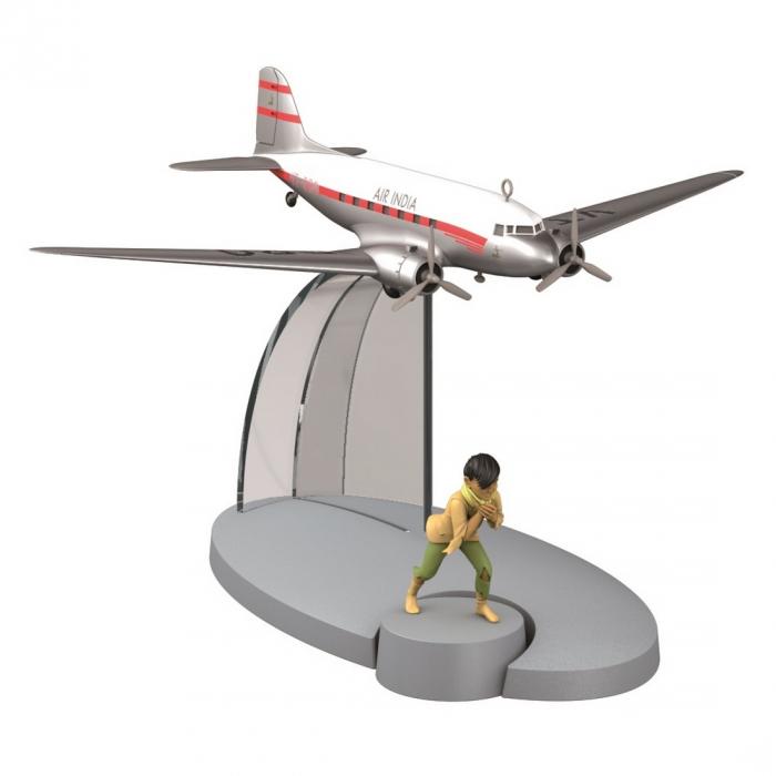 Tintin Figure collection Air India VT-DAO Plane Tintin Tibet Nº12 29532 (2015)
