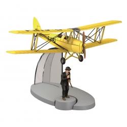 Figura de colección Tintín isla negra El avión biplano amarillo Nº11 29531 2015
